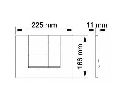 Инсталляция BERGES для скрытого монтажа унитаза NOVUM с кнопкой S3