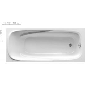Акриловая ванна Ravak VANDA II CP11000000 160x70 белая