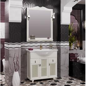 Мебель для ванной Тибет 80 Opadiris Z0000009334 (Тумба с решеткой, с раковиной + зеркало)