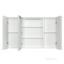 Зеркальный шкаф Мадрид 120 со светильником белый Aquaton 1A113402MA010