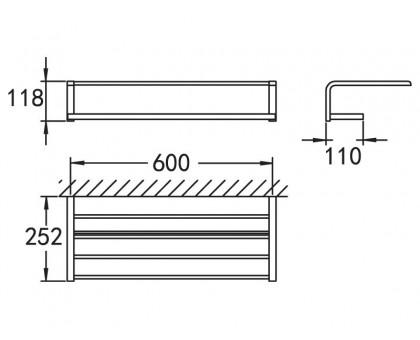 Полка для полотенец подвесная ART&MAX AM-F-8925