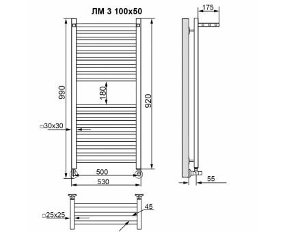 Полотенцесушитель водяной Nika 80x50 1690-2935