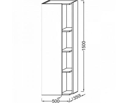 Подвесная колонна Jacob Delafon 50 см EB1179G-M61
