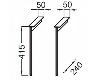 Комплект ножек для мебели Jacob Delafon EB3055-BLV