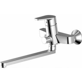 Смеситель для ванны с длинным изливом с аксессуарами Bravat Line F65299C-LB-RUS