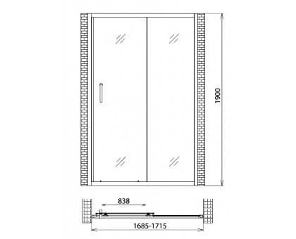 Душевая дверь Gemy Victoria S30191G