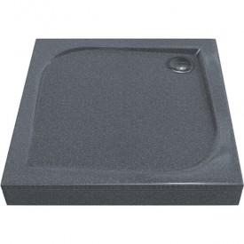 КВАДРО 1000х1000 - поддон из литьевого мрамора Грей (серый) GOOD DOOR ЛП00029