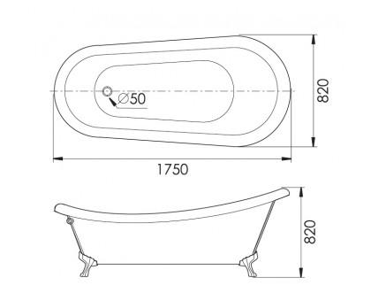 Акриловая ванна Gemy G9030 D