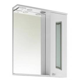 Зеркало VOD-OK Адам 65 см Белое ЛВ/ПР - С