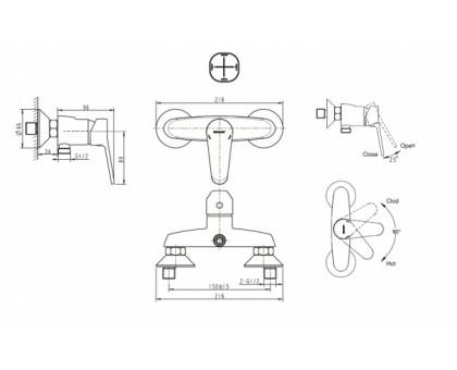 Смеситель для душа Bravat Eco F9111147C-01