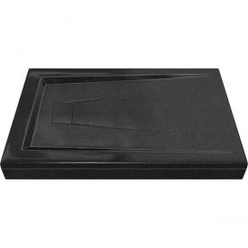АТРИУМ 1200х800 - поддон из литьевого мрамора Антрацит (черный) GOOD DOOR ЛП00033