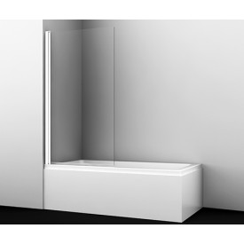 48P01-80WHITE Стеклянная шторка на ванну WasserKRAFT