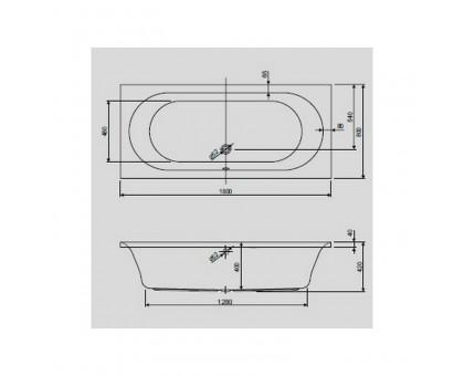 Акриловая ванна Cezares METAURO-180-80-42