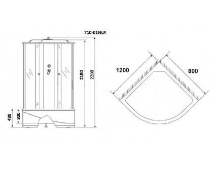 Душевая кабина Niagara Standart + NG-710-01LN 120x80