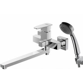 Смеситель для ванны c длинным изливом с аксессуарами Bravat Riffle F672106C-LB