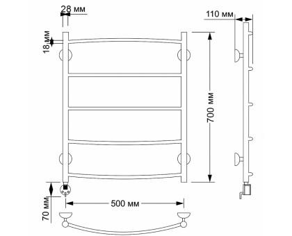 Электрический полотенцесушитель Secado Милан 1 50х60 1675-2881