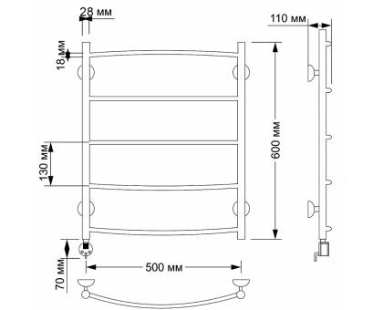 Электрический полотенцесушитель Secado Милан 1 50х70 1675-2882