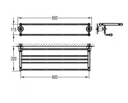 Полка для полотенец ART&MAX AM-F-8980