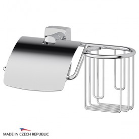 Держатель освежителя воздуха и туалетной бумаги с крышкой (хром) FBS ESP 053