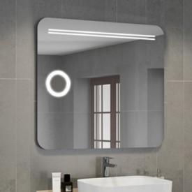 Зеркало Comforty Лондон-90 светодиодная лента сенсор 900x800 00004140523