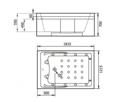 Акриловая ванна Gemy G9061 K R