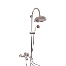 Смеситель RAV Slezаk для ванной, с душевым комплектом, штанга 1120мм, керамический переключатель L054.5/3