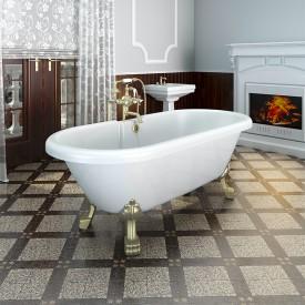 "Акриловая ванна ""Леонесса 1"" на ножках со сливом-переливом Radomir 1-01-4-0-1-138"
