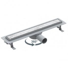 Трап линейный 50мм с боковым выходом 360° 60 см VLD-521720 Valtemo