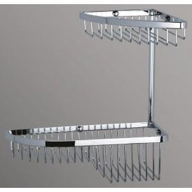 Полка угловая подвесная ART&MAX AM-G-2822-Cr