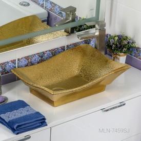 Раковина MELANA MLN- 7459SJ (золото)
