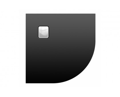 Акриловый душевой поддон Riho 451 90x90 черный матовый, накладка хром DC981700000000S