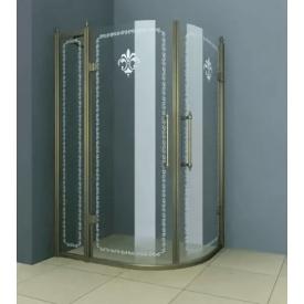 Душевой уголок Cezares RETRO-RH-2-120/90-SCORREVOLE-CP-Br