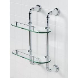 Полка стеклянная двойная подвесная ART&MAX AM-E-2611-D-Br
