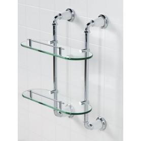 Полка стеклянная двойная подвесная ART&MAX AM-E-2611-D-Cr