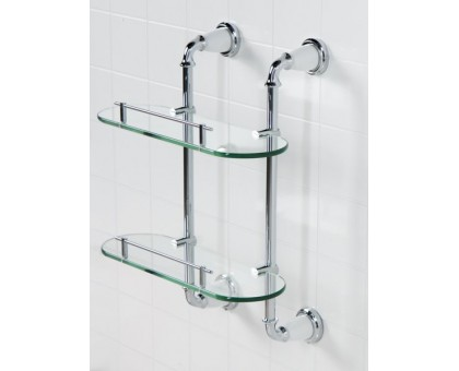 Полка стеклянная двойная подвесная ART&MAX AM-E-2611-D-Do