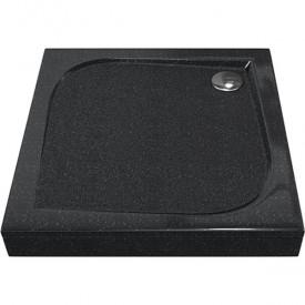 КВАДРО 1000х1000 - поддон из литьевого мрамора Антрацит (черный) GOOD DOOR ЛП00030