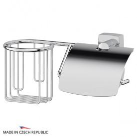 Держатель освежителя воздуха и туалетной бумаги с крышкой (хром) FBS ESP 054
