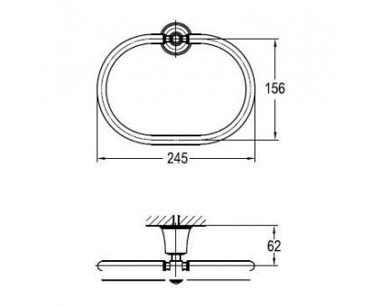 Полотенцедержатель ART&MAX AM-F-8985