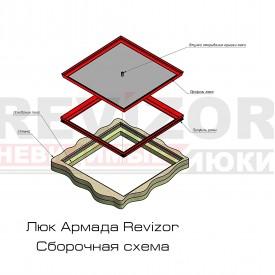 Люк Revizor сантехнический съемный напольный 1367-368 50х30х30