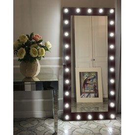 Зеркало Континент гримерное шоколад ( 26 ламп) 80х165 ЗГП21