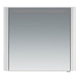 M30MCL0801WG Sensation зеркало зеркальный шкаф левый 80 см с подсветкой белый глянец