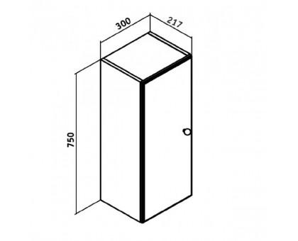 Шкаф навесной Runo Кредо 30 00000000761 универсальный