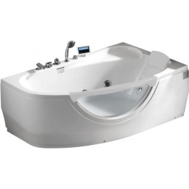 Ванна с изливом Gemy 161х96 G9046 K R