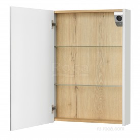 Зеркальный шкаф Roca UP 60 L ZRU9303015 белый глянец