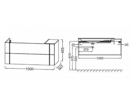 Тумба Jacob Delafon под раковину-столешницу EB3031-N18