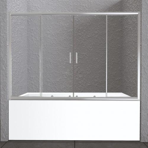 Шторка на ванну BelBagno UNIQUE-VF-2-150/180-140-C-Cr