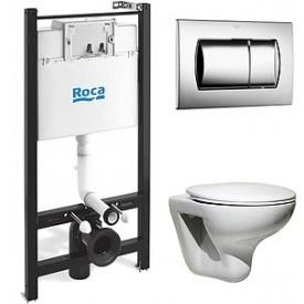 Комплект Roca Mateo 7893100010 унитаз, инсталляция,сиденье,кнопка