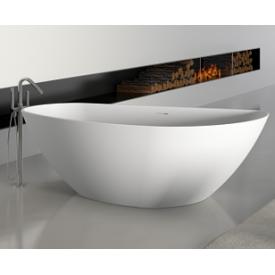 Асимметричная ванна из искусственного камня Riho Granada 170x80 белая BS1800500000000