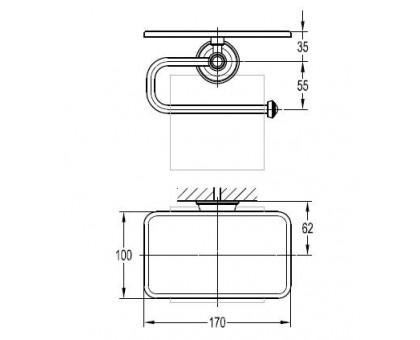 Держатель туалетной бумаги ART&MAX AM-F-8989