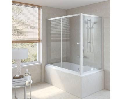 Душевая шторка на ванную ZV+ZVF 150*85 07 01 VegasGlass